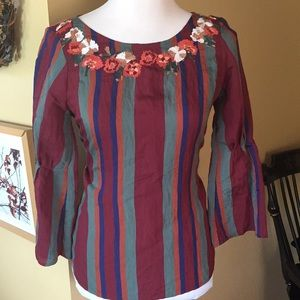 MADEWELL size XS embroidered Tunic $88 new